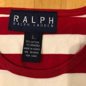 Ralph Lauren Stretch striped tee red & White